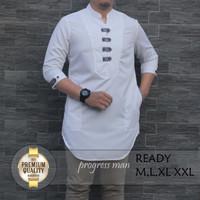 Baju Muslim / Koko Pria / Koko Skoder - Putih, M