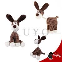 Mainan Boneka Jerapah Gigitan Bunyi / Anjing Kucing /Squeaky Plush Toy - Cokelat