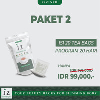 paket 2 Jz Slimming Tea || isi 20 kantong teh pelangsing alami