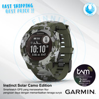 GARMIN Instinct Solar Camo GPS Running Smartwatch - Garansi Resmi TAM