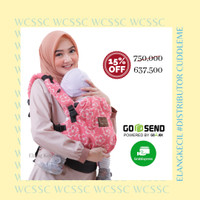 [Promo] Cuddle Me WCSSC Gendongan Bayi Hipseat Sakura Peach Full Motif