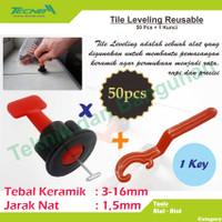 Reusable Tile Leveling / Alat Perata Keramik Model Putar 51 Pcs