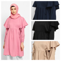 SHANUM Baju Atasan Wanita Tunik Blouse Baju Muslim Blus muslim