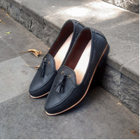 RIDE INC sepatu flat wanita Tassel loafer 3cm heels - 35