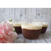 Puding Cokelat dengan vanilla vla 175ml