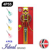IDEAL 4P55 Paket 4 Pcs Gunting Sekolah (16CM)