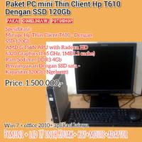 READY STOCK - Paket Komputer pakai SSD Mini Pc Hp Thin Client T610