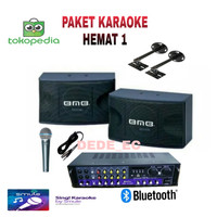 Paket Speaker Karaoke Hemat 1/10inc Speaker BMB+Amplifier Bluetoot🤗