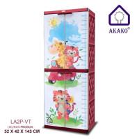 Lemari 2 pintu plastik full kunci Naiba Akako Napolly Club Tabitha