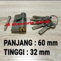 CILINDER KUNCI BESAR 60 mm COMPUTER KEY / SILINDER PINTU RUMAH 6 cm