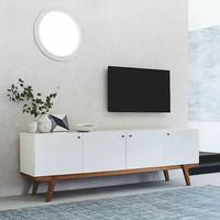 Noah Meja Tv Putih-Rak TV Putih Minimalis