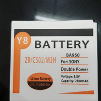 Battery / Baterai / Batere Sony Xperia ZR C502/BA950 Double Power Y8