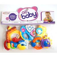 Rattle Baby 5 pcs   Mainan Kerincingan Bayi