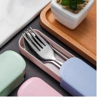 Sendok Garpu Sumpit stainless steel Set +Box