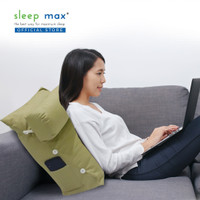 Sleep Max Backrest Pillow/Bantal Sandaran/Bantal Santai - Polos Hijau