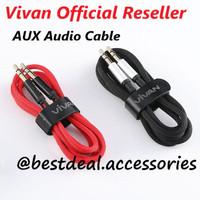 Vivan AUX01 Aux Audio Cable 100cm Hi-Fi Sound Gold Plated Jack 3.5mm