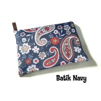 Tas Belanja Lipat Besar / Tas Belanja Motif Lucu / Eco Bag Large 1 - batik navy