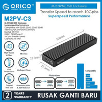 Orico M2PV-C3 M.2 NVMe SSD Enclosure Casing