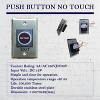 Saklar tombol exit, saklar sensor infrared, saklar no touch