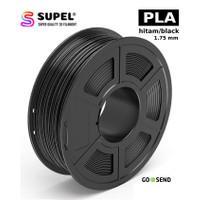 SUPEL Filamen Filament PLA Printer 3D Warna Hitam | Black