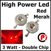 High Power Led 3w Red Merah Double Chip Hpl 3Watt Epiled Super Bright
