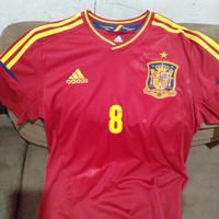 jersey spanyol 8 xavi hernandes authentic
