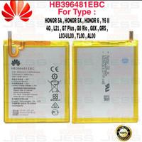 Baterai Original Honor 5A , Y6 II 4G Lte , Cam-L21 , Y611 HB396481EBC