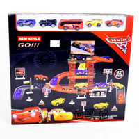 Mainan Anak Racing Car 3 Parking Garage Lot Play Set Parkir Mobil