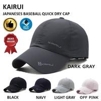 BASEBALL CAP KAIRUI TOPI BASEBALL TOPI QUICK DRY TOPI OLAHRAGA - Dark Gray