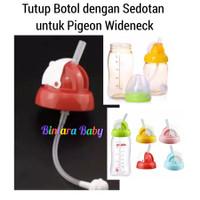 Tutup Botol Pigeon Wide neck dengan Sedotan untuk Botol Pigeon