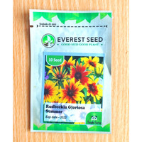 isi 10 Benih Bunga Rudbeckia Gloriosa Summer Everest Seed