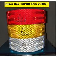 Stiker Reflektor Spotlight Sticker Uji Kir Mobil Box Truk ROLL 50Meter