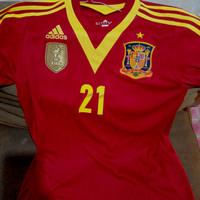 jersey spanyol 21 silva authentic