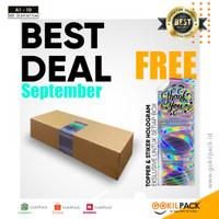 Box Kotak Kardus Packing - Dus Kue/Bolu/Brownies 33.5x9.5x7.7 | A1 10