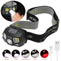 taffled headlamp reachargeable usb motion XPE+COB 10000 lumens BL066