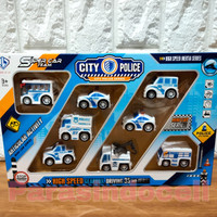Mainan Mobil Mini Polisi Pullback City Police Series