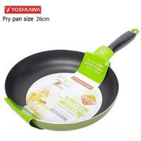 Yoshikawa Panci Frying Fry Pan Teflon 26 cm 26cm HIJAU