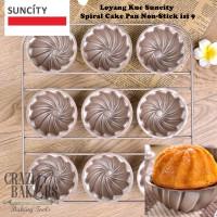 Loyang Kue Suncity Spiral Cake Pan Non-Stick isi 9