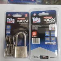 Gembok PUTIH Besi Iron Padlock Pagar Rumah TOHO 40mm 40 mm PANJANG