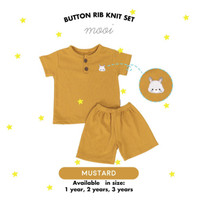MOOI Rib Knit Set / Setelan Anak Lengan Pendek