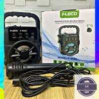 Speaker Bluetooth FLECO F-955C Free Mic + Senter Spiker Portable Mini