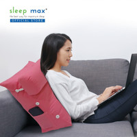 Sleep Max Backrest Pillow/Bantal Sandaran/Bantal Santai - Polos Pink