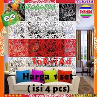 Hiasan dekorasi dinding sekat ruangan rumah kamar vintage bahan PVC - Penyekat MERAH