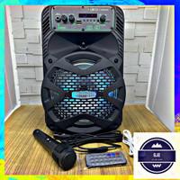 Speaker Bluetooth FLECO F-2308LED 8Inc Free Mic - Speker Meeting