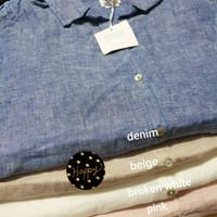 Sigrid Olsen Linen Tunic Shirt kemeja wanita AU