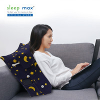 Sleep Max Backrest Pillow/Bantal Sandaran/Bantal Santai - Star Blue