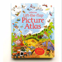 Usborne Lift The Flap Picture Atlas. Buku Anak Import