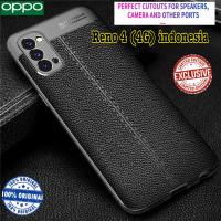 Case Reno 4 indonesia Oppo Reno4 casing Soft Motif Leather Original