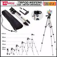 Tripod WeiFeng 3110A 1meter Universal putih hitam utk kamera atau HP