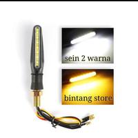 lampu led sein reting motorsport flowing running - Putih